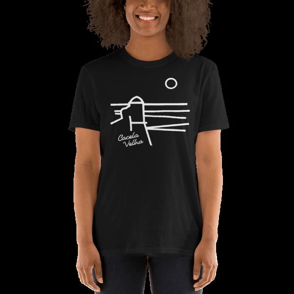 T-shirt Preta com a imagem das linhas de Cacela Velha